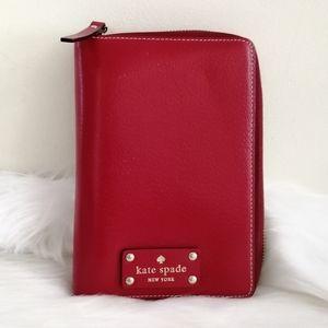 Kate Spade Agenda Planner Organizer Red Leather